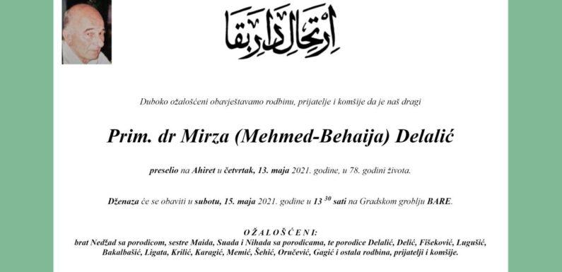 Preselio prim.dr. Mirza Delalić