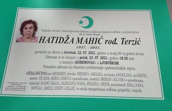 Smrtovnica Hatidze-Tidze Mahic