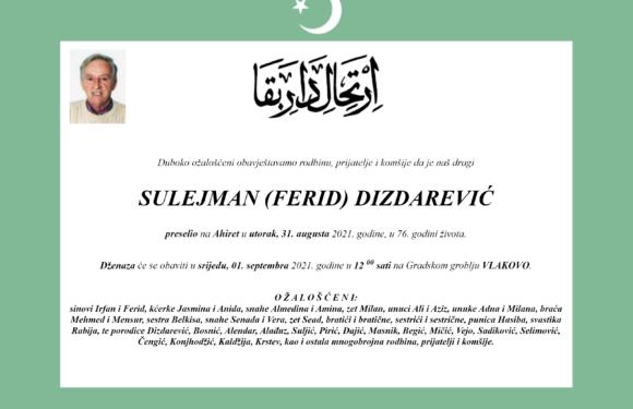 Preselio Sulejman (Ferid) Dizdarević