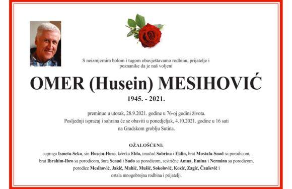 Omer Mesihovic smrtovnica